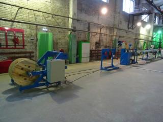 Линия нанесения поливинилхлоридной изоляции на жилу электропровода